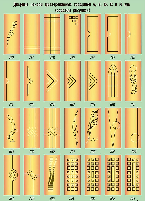дверные панели фрезерованные 8 - 10 мм