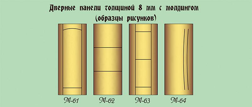 Дверные панели варинаты молдинга