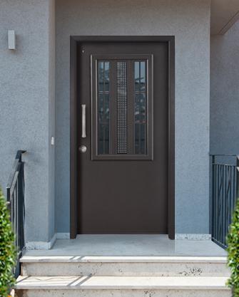 коричневая входная дверь от ПРО ДОМО